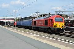 "DB Cargo Rail Red Class 67, 67028 (37190 ""Dalzell"") Tags: dbc dbcargorail red gm generalmotors alstom valencia skip class67 mk1 barriervehicles bombardierderby aventra crossrail elizabethline emu electricmultipleunit class345 67028 6378 6379 rba210614 345036 crewe"