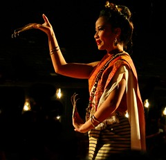 Traditional Thai Dancer (John Shedrick) Tags: asia thailand chiangmai dance traditional culture nighttime lady