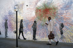 london (Roberto.Trombetta) Tags: uk england london black man boy business suit walking graffiti art mobile phone selfie great britain woman girl child sun loneliness lone building sonyalpha sony7rii sony7rmii batis225 carlzeiss zeiss carl sony alpha 7rii people lifestyle bag street photography road