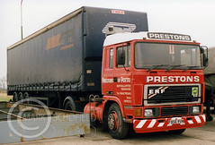 F586RVN ERF E14 PRESTONS POTTO (Mark Schofield @ JB Schofield) Tags: jim taylor transport road commercial vehicle lorry truck wagon tipper tanker artic eight wheeler haulage contractor bulk haulier tractor unit freight hgv lgv