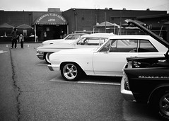 Gardena Elks Car Show (Ilford Delta 100) (JCD Images) Tags: elks lodge 1919 carshow gardena california usa march 2018 cadillac chevrolet ford madeinusa cars autos automobile classiccars musclecars hotrods streetrods street chrome rims custompaint custom kustom photography voigtlander bessar3m rangefinder cosina nokton 40mm f14 singlecoated ilford delta100 film 35mm 135 fromex prolab scanned