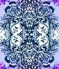 Lilac Dreams (Lindsaywhimsy) Tags: girl dream lilac illustration abstract experimental ink pattern nature headdress reflection