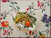 on my table (mhobl) Tags: tischdecke banane mandarine muster bunt farben colors platte design maroc
