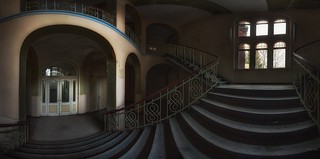 abandoned main stairs