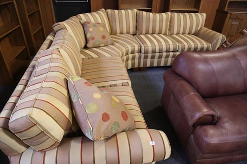 Stickley Striped Sectional Sofa ($280.00)
