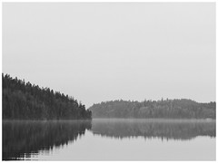 Lake Sävelången. (manganlundin) Tags: lake scenery nature blackandwhite blackwhite bw monochrome ingared alingsås sweden