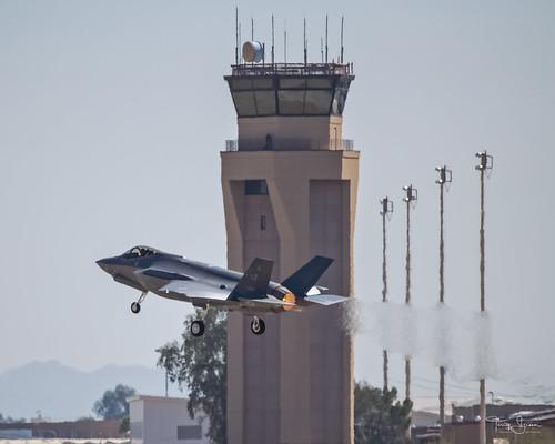 United States Air Force Lockheed Martin F-35 Lightning II taking off from Luke Air Force Base, Glendale Arizona