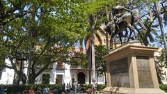 Cartagena (Tomas Belcik) Tags: plaza bolivar statue sculpture church interior columns cathedral cartagena colombia oldtown streets lanes colonial architecture colonialarchitecture