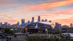 Sunset as seen from the West Bank (ryanang7) Tags: minneapolis canon minnesota us downtown bank vikings stadium 2470