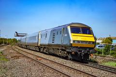82302 + 68009 - Tyseley - 05/05/18. (TRphotography04) Tags: chiltern railways dvt 82302 tails 1r25 1104 london marylebone birmingham moor street past tyseley direct rail services drs 68009 titan on hire was leading