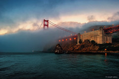 Fort Baker (Explored) (Joseph Greco) Tags: goldengatebridge sanfrancisco fog fortbaker sausalito marincounty bridge weather moody