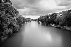 the rain is coming (Lars Denker) Tags: bw sw black white schwarz weiss isar fluss river