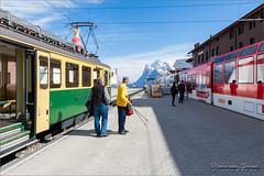 Kleine Scheidegg - Schweiz (Hans van Bockel) Tags: d7200 nikon sigriswil zwitserland grindelwald ch switzerland kleinescheidegg station trein tandradbahn eiger mönch jungfrau wtterhorn wandelen bergen mountains