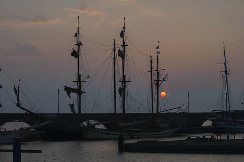 Sunset Batavia harbour  Lelystad 11-04-2018