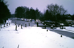 Slide 116-94 (Steve Guess) Tags: newhaw lock wey navigation canal surrey england gb uk snow