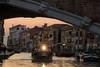Ponte delle Guglie. (Eugenio Albertus) Tags: landscape venice 80d luznatural atardecer canal venecia barca puente paisaje ciudad faro