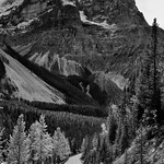 Spiral Tunnel Viewpoint and a Drive Through the Canadian Rockies (Black & White, Yoho National Park) thumbnail