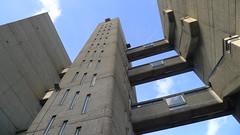 Ernö Goldfinger Highrise, soon to be luxury flats. Poplar, London (Winfried Scheuer) Tags: apartment block walkway elevator tower brutalist balfron