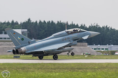 EF-2000 Typhoon Landing (maclapt0p) Tags: fighter aircraft plane typhoom poznan ntm2018 3095 poland germany ef2000 polen