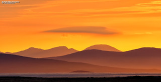 Lewis and Harris islands from North Uist