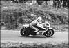 Mick Grant at Mallory (G. Postlethwaite esq.) Tags: april1978 bw canonae1 ilfordfp4 kawasaki mallorypark mickgrant tamron300mmf56 blackandwhite monochrome motorbike motorcycle print racing scan
