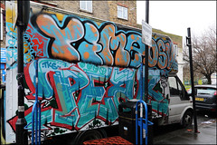 Time / Peak (Alex Ellison) Tags: time osv peak lorry boxtruck eastlondon urban graffiti graff boobs