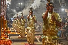 Ganga Aarti Varanasi DSC_8585 (JKIESECKER) Tags: religiousceremony religion gangariver ganges gangesriver gangaaartiivaranasi varanasiindia varanasi nighttime portrait people peopleportraits