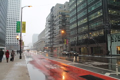 April Snowshowers Bring... (Flint Foto Factory) Tags: chicago illinois urban city spring april 2018 downtown loop monday snow showers sooc straightoutof camera street canal monroe intersection unionstation train station precipitation inclement weather bus lane longlivecuriosity banner residential condominiums apartments business financial