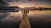 Te Anau (robjdickinson) Tags: sunset water pier dusk lake landscape reflection nature sun evening outdoor calm boardwalk atmosphere longexposure rjdlandscapes teahau milford southland newzealand southisland