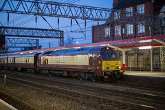 67021 Crewe 18042018 (TheSilkmoth) Tags: 67021 class67 skip db dbs pullman belmond poshtrain belmondbritishpullman charter special railtour grandnationalspecial crewestationcheshirerailways