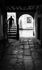 Those who walk away (Frank Busch) Tags: frankbusch frankbuschphotography alley bw blackwhite blackandwhite canal italy man monochrome running stairs venice wwwfrankbuschname