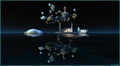 Ville flottante (Tim Deschanel) Tags: tim deschanel sl second life paysage exploration landscape terrademorte seven days serene bay ville town flottante floating city