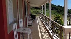 the veranda on the top level IMG_8555 (mygreecetravelblog) Tags: greece ionian ionianisland island kefalonia cephalonia lassi lassiresort lassiresortkefalonia sunshineresortlassi sunshineresortkefalonia hotel sunshineresorthotel balcony terrace veranda patiofurniture tables chairs