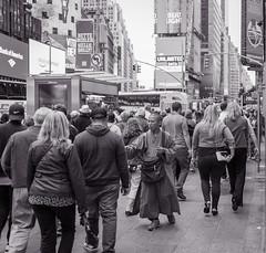 life in the big city.. (Ken B Gray) Tags: d700 timessquare bw blackandwhite bigcities noiretblanc streetphotography manhattan primelens blackwhite bianconero