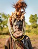Mursi Woman (Rod Waddington) Tags: africa african afrique afrika äthiopien ethiopia ethiopian ethnic etiopia ethnicity ethiopie etiopian culture cultural woman mursi tribe traditional tribal outdoor portrait people painted face omovalley omo omoriver landscape
