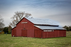 Red Barn - Greenville Co, S.C. (DT's Photo Site - Anderson S.C.) Tags: canon 6d sigma 50mm14 art lens upstate greenvillesc southcarolina possumkingdom vintage vanishing rural country roads building shed barn red pastoral disappearing antique quaint southern southernlife scenic landscape fence pasture america usa southeast yesteryear countryside outside outdoor serene