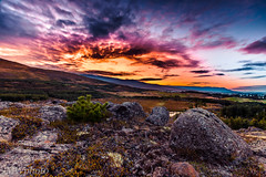_DSC2720 (MarcusXD1974) Tags: iceland akureyri north dramatic sky tree grass mountains hill clouds sun orange red blue summer golden hour long exposure nikon sigma nature