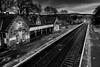 Pitlochry Train Station (Richard Tynan) Tags: perthshire scotland highlands pitlochry anseladams train station landscape blackandwhite