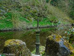 sluice gate (steveflockton1) Tags: sluice gate water pond skipton woods