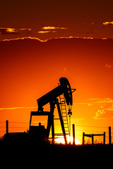Sunset Oil Well (aezoss) Tags: oilwell sunset airdrie alberta canada