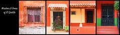 windows & doors or el quelite - pt 5 (rockinmonique) Tags: elquelite collage mexico sinaloa mazatlan orange green red yello window doors moniquew canon canont6s tamron tamron45mm copyright2018moniquewphotography