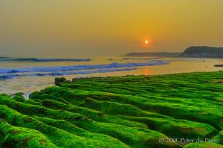 Lao Mei Green Rock Formation Sunrise - 老梅綠石槽
