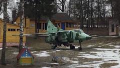 Mikoyan MiG.27K c/n 76802657218 Belarus Air Force preserved at a holiday camp in Malu Ulanova, Belarus (sirgunho) Tags: mikoyan mig27k cn 76802657218 russia air force preserved holiday camp malu ulanova belarus mig27 mig 07 red