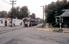 South Shore 47 Michigan City Sep93 (jsmatlak) Tags: chicago south shore bend indiana electric railway train tram csssb nictd