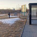 Last signs of winter, Zličín bus station, Prague, Czech Republic thumbnail