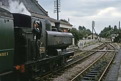 GWR 0-6-0PT 9773 leaving Colnbrook (TrainsandTravel) Tags: england angleterre standardgauge steamtrains voienormale trainsavapeur dampfzug normalspur britishrailwayswesternregion colnbrook gwr 57xx 060pt 9773