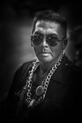 Necklace Addict (fredMin) Tags: portrait black white people travel asia bangkok 56mm fujifilm xt1 monochrome