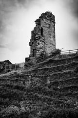 Tutbury Castle (Rich Presswood) Tags: architecture tutburycastle castle fuji fujixpro2 mitakon mitakonzhongyi35mmf095 f8 silverefexpro2 ruin bw blackandwhite mono monochrome adobelightroom