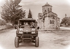 Cyprus April 2018. . . (CWhatPhotos) Tags: cwhatphotos prime lens building architecture sun skies sky blue beach buggy kymco eastern cyprus car man road 2018 april digital camera pictures picture image images photo photos foto fotos that have which contain olympus penf vehicle drive hire fun open