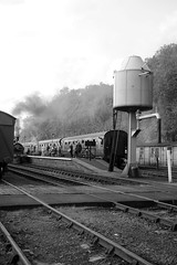 SVR 75575bw (kgvuk) Tags: svr severnvalleyrailway railway train steam heritage history engine locomotive station bewdley 564 060 y14 j15